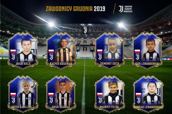 Zawodnicy miesiąca Juventus Academy Bydgoszcz - Grudzień