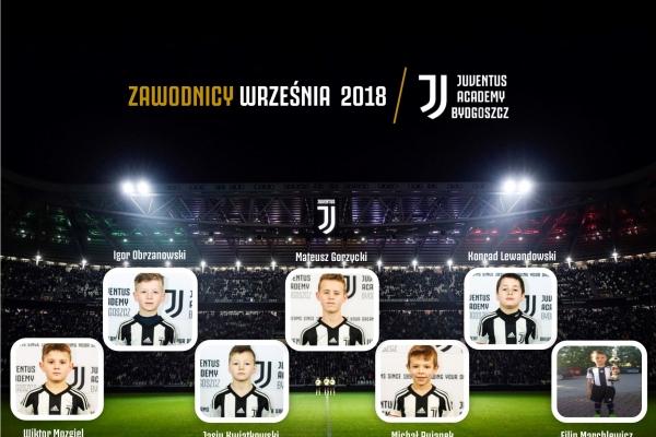 Zawodnicy miesąca Juventus Academy Bydgoszcz- Wrzesień 2018