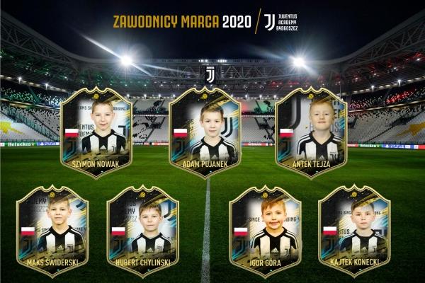 Zawodnicy miesiąca Juventus Academy Bydgoszcz - Marzec