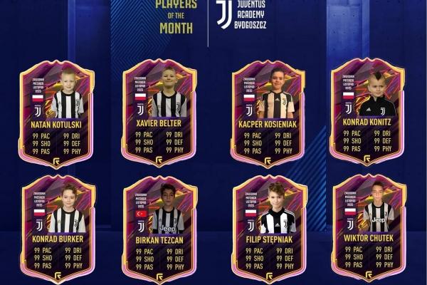 Zawodnicy miesiąca Juventus Academy Bydgoszcz - Listopad