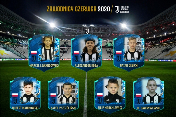 Zawodnicy miesiąca Juventus Academy Bydgoszcz - Czerwiec